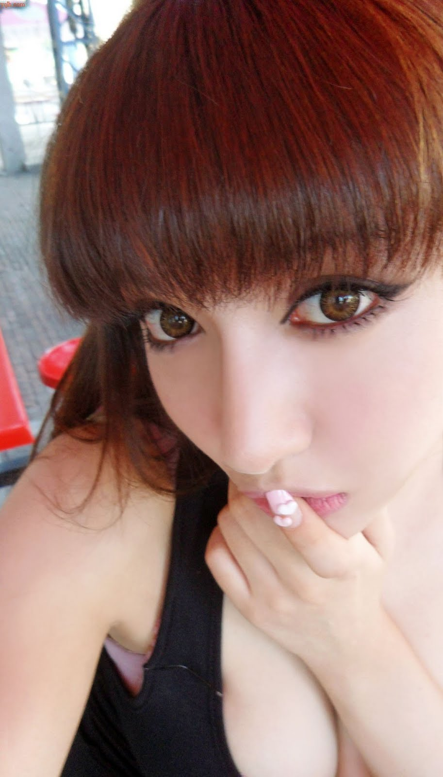 Sexy Asian Model  Beautiful Eyes  Good Asian Girl-8806